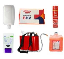Papierhouder, watertank, EHBO koffer