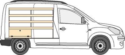 A3 Linkerzijde Legbordstelling Dacia Dokker