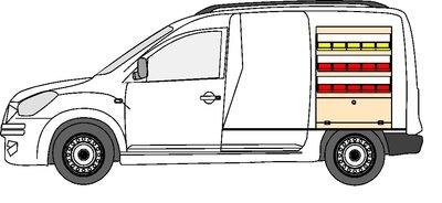 B1 rechts rode en gele grijpbakken Dacia Dokker