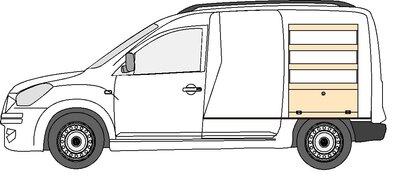 B2 rechts legbordstelling Dacia Dokker
