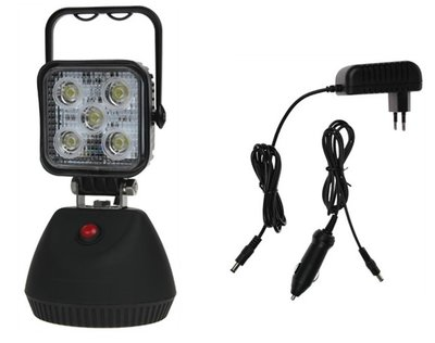LED-werklamp oplaadbaar op magneetvoet