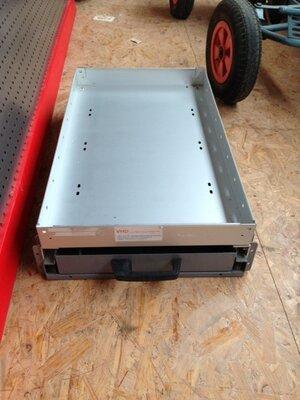 Stalen lade met legbord  80 cm lang 19 cm hoog 51 cm breed - nu in prijs verlaagd!