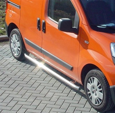 Side-bar set Fiat Fiorino ('08>) WB 2500, geborsteld RVS