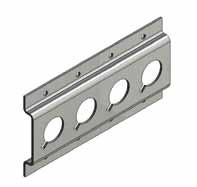 S-Line rondgat-ankerrail, staal verzinkt, L 1500 mm