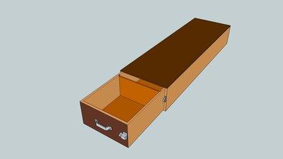 Bodembak met 1 lade te plaatsen bij zijdeur