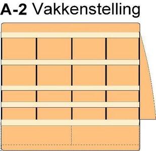 A2 Vakkenstelling links (of rechts indien geen zijdeur)