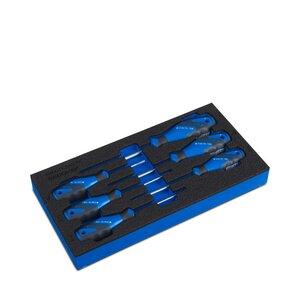 Set schroevendraaiers TX van Gedore in gereedschapsinleg 3x6